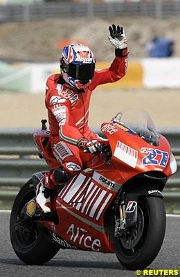 Moto GP: Portugal: Podium: 3 Stoner