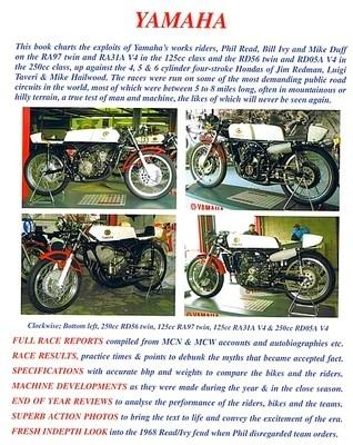 Toute l'histoire des Yamaha de grand prix des années 60 dans un bouquin…