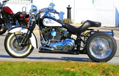 Trike Harley by Q Tek Engineering : le Q3 en preparation chez route 87.