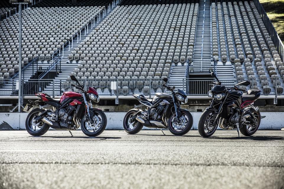 Triumph Street 800 S, R et RS 2017 : les fiches techniques