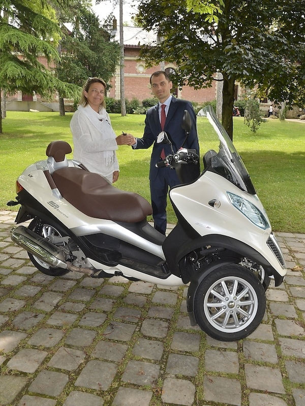 Piaggio France fête son 60000ème MP3 vendu en France