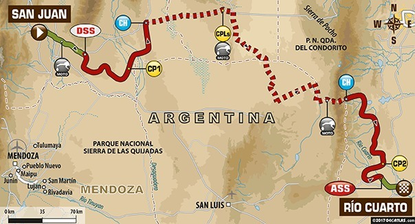 Dakar 2017 - étape 11 : le parcours du jour