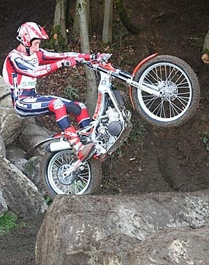 Jérome Béthune champion de France de trial.