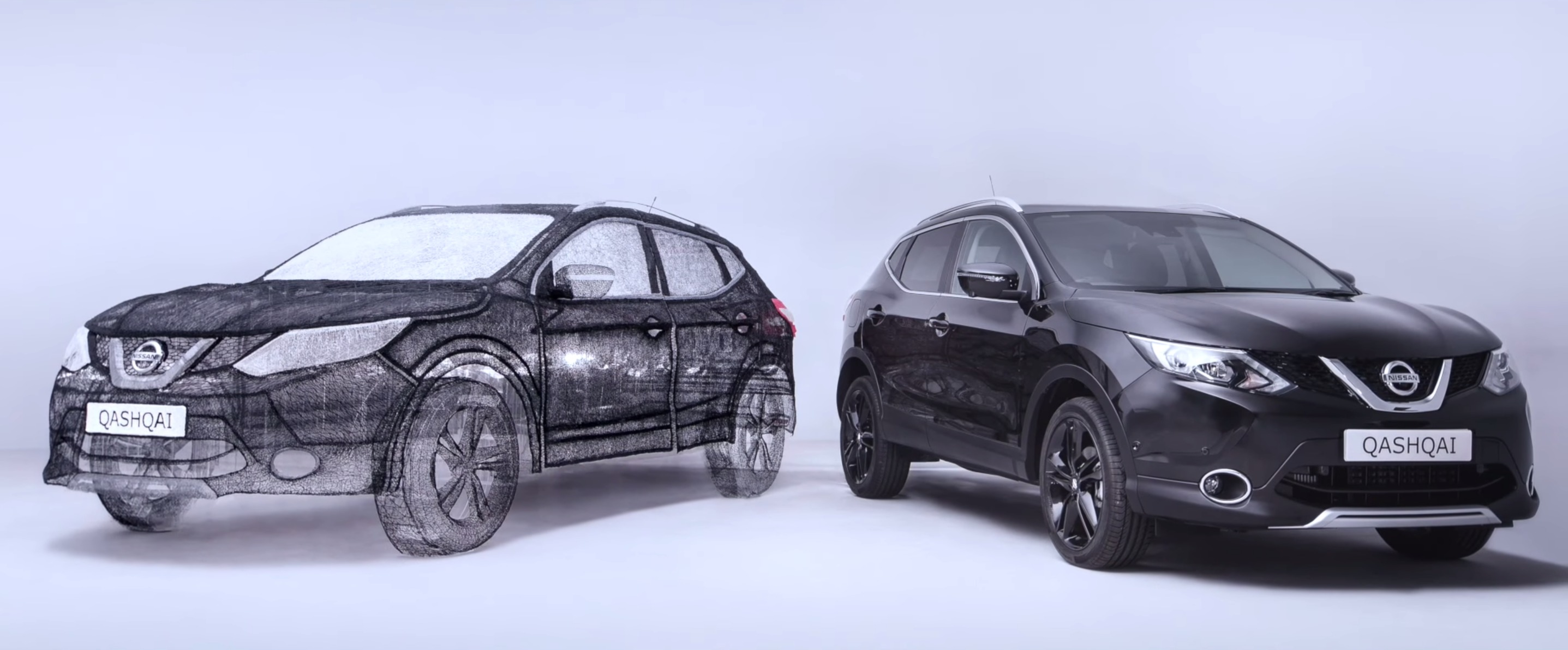 insolite nissan d voile un qashqai r alis au stylo 3d. Black Bedroom Furniture Sets. Home Design Ideas