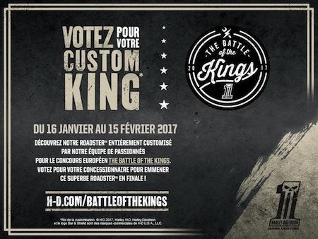 Harley-Davidson Battle of the Kings 2017: c'est à vous de voter!