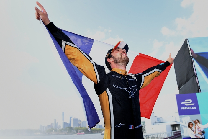 Formule E - Interview de Jean-Eric Vergne, l'autre champion Français du week-end