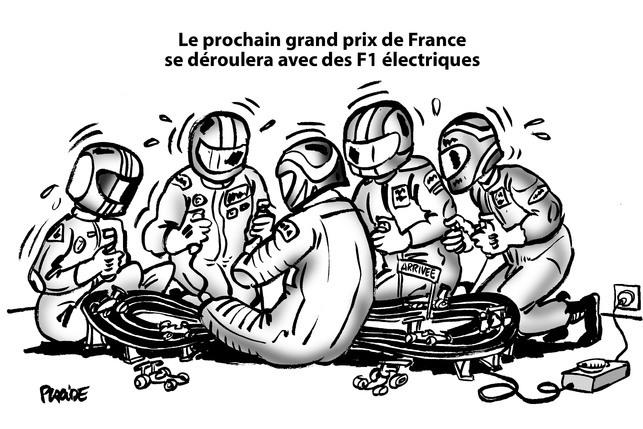 Le dessin du jour - Le Grand Prix de France de Placide