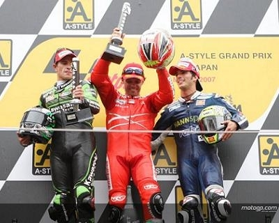 Moto GP: Japon D.3: Titre pour Stoner, Hat trick pour Capirex et Champagne pour les Français !