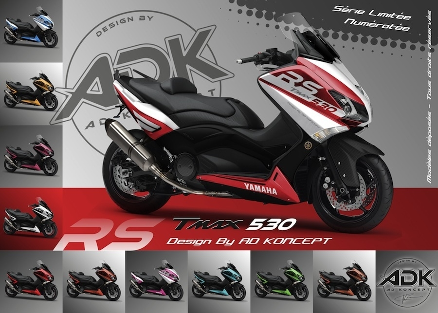 tuning des yamaha t max 530 rs chez ad koncept. Black Bedroom Furniture Sets. Home Design Ideas