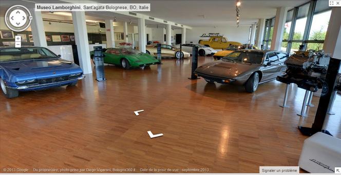 Google View vous fait visiter le musée Lamborghini