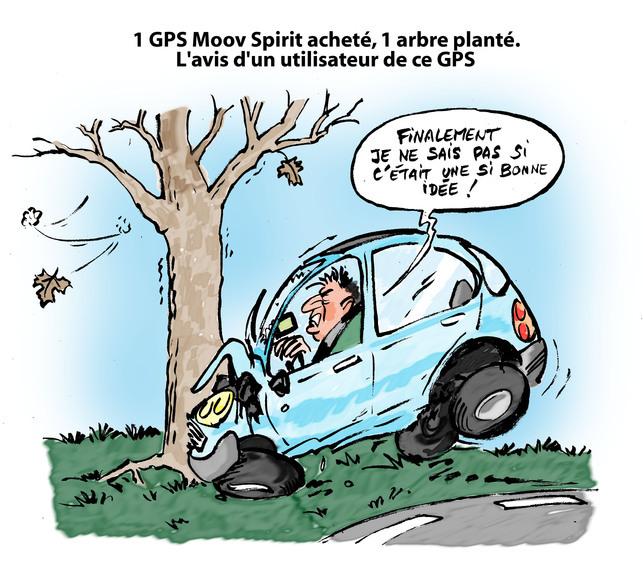 Le dessin du jour par Placide - Vive les GPS!