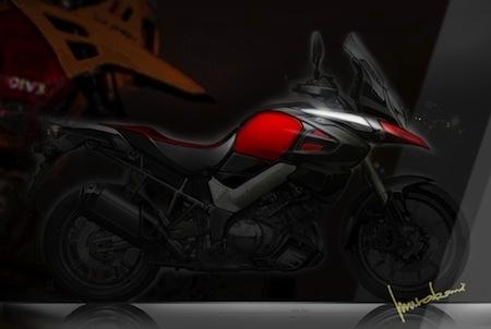 Suzuki V-Strom 2014: le 1000. Dessin, teaser et tout et tout... sur un site que pour elle!