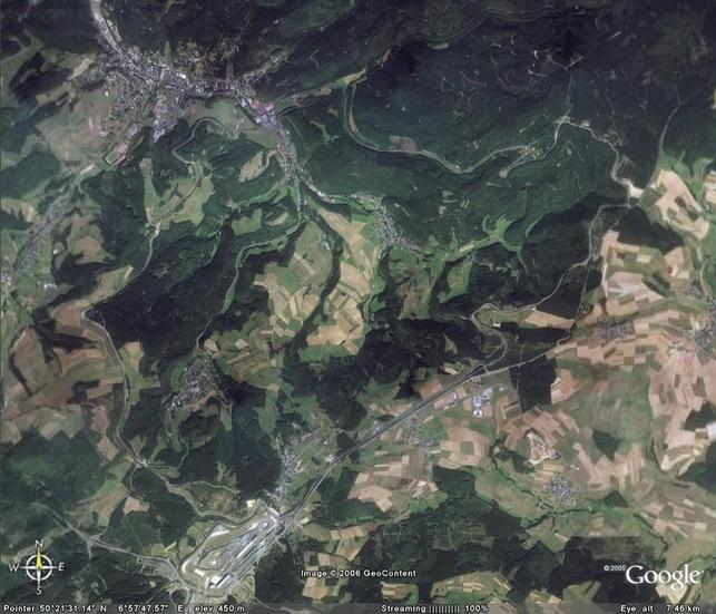 Google Earth - balade sur le Nürburgring?