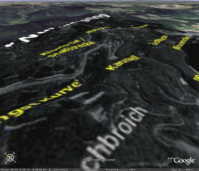 Google Earth - balade sur le Nürburgring?