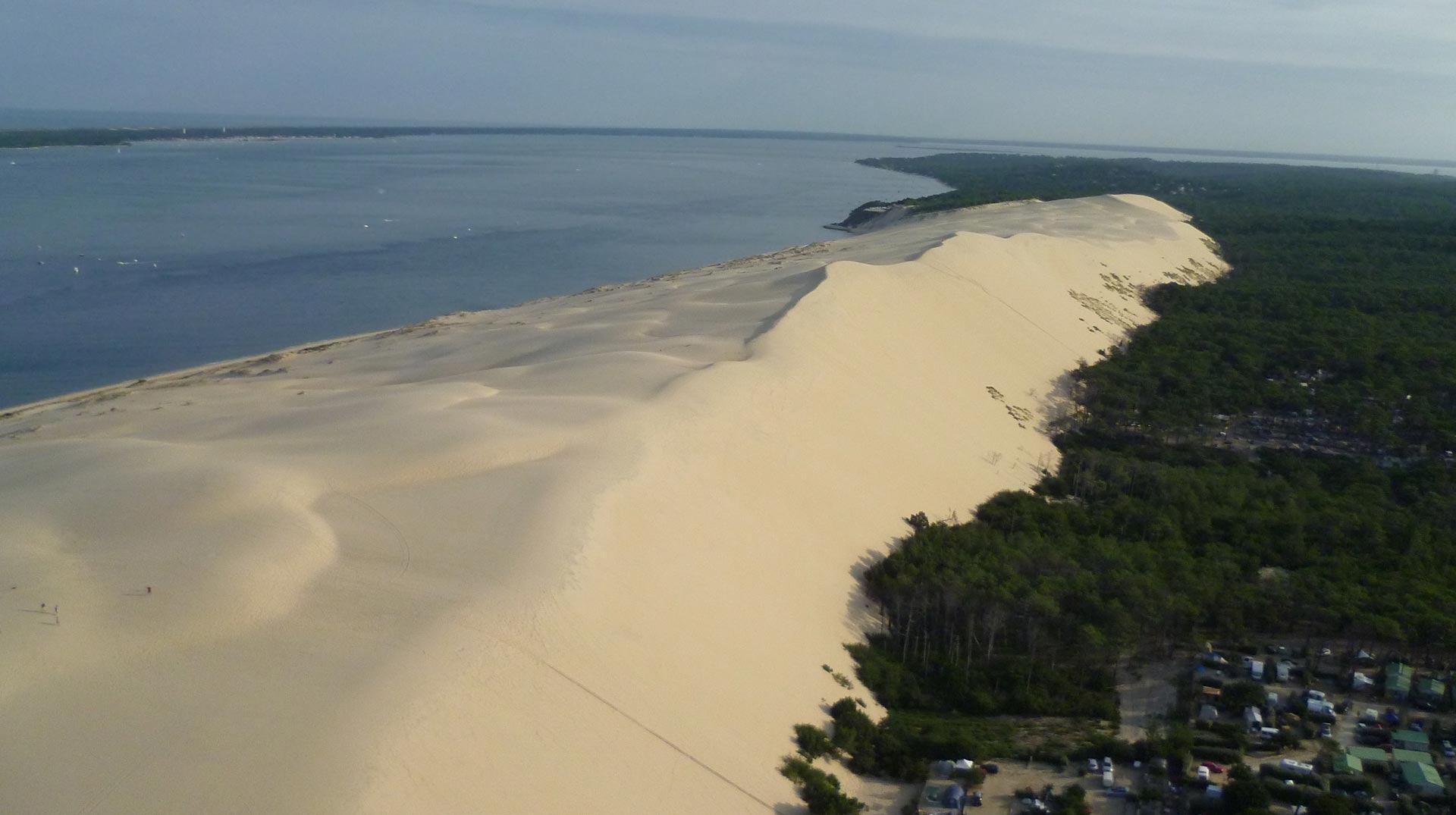 Dune du pilat un parking implant en zone prot g e - Restaurant dune du pilat ...