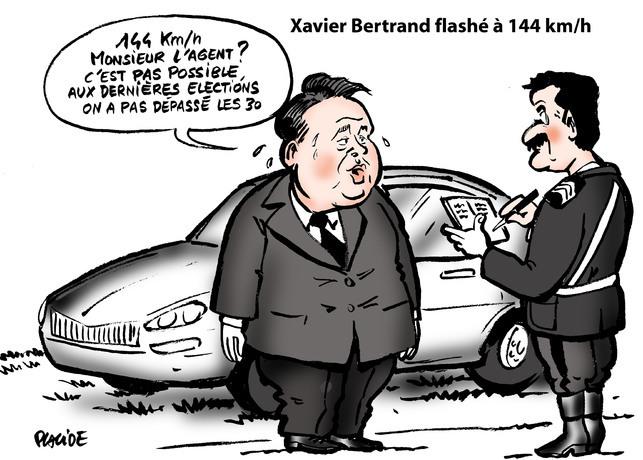 Le dessin du jour - Placide et Xavier Bertrand