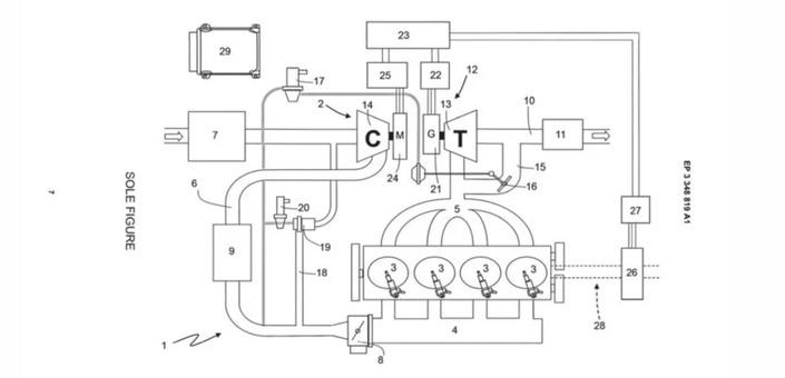 Ferrari dépose un brevet pour undrôle de moteur