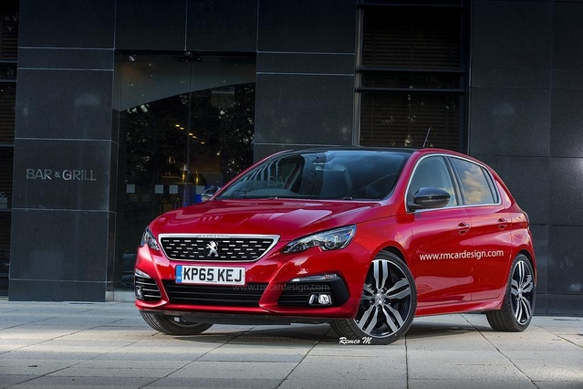 Design : un artiste imagine la Peugeot 308 restylée