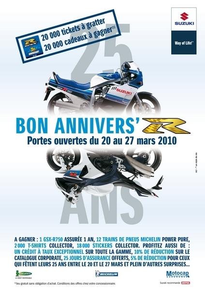 Portes ouvertes «25 ans de GSX-R» chez Suz', du 20 au 27 mars 2010