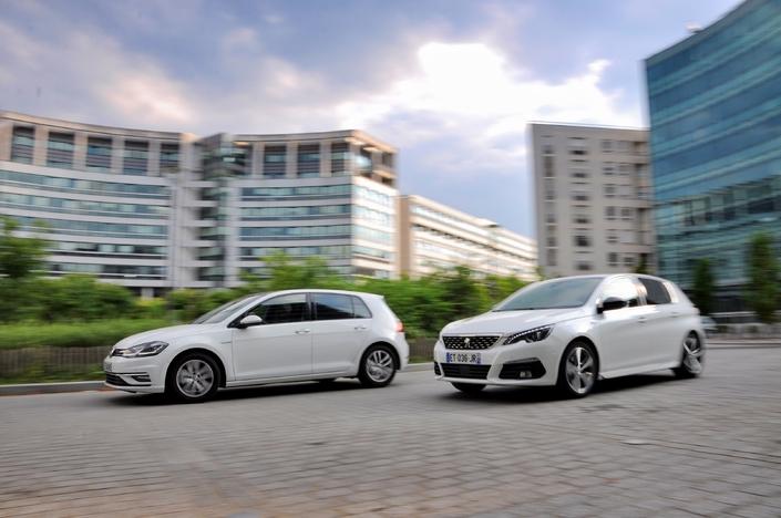 Comparatif - Peugeot 308 1.2 Puretech 130 EAT8 VS Volkswagen Golf 1.5 TSI EVO 130 DSG7