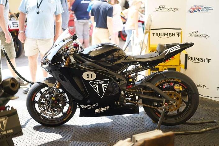 Triumph: la nouvelle Moto2 était à Goodwood!
