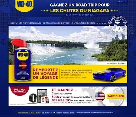 Jeu concours: WD-40 vous emmène aux Chutes du Niagara