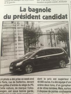 Un Volkswagen Sharan pour François Hollande!