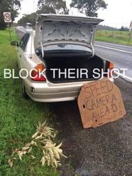 """Block their Shot"" une campagne anti-radars australienne étonnante"