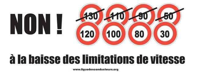 928 000 signatures pour la pétition contre la baisse des limitations de vitesse