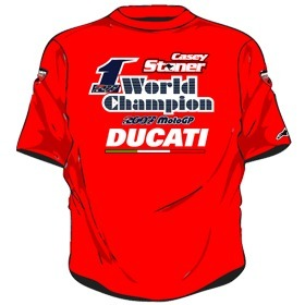 Moto GP: Ducati commercialise le maillot Champion du Monde