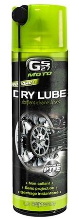 GS27 lubrifiant chaine à sec Dry Lube : graissez, roulez !