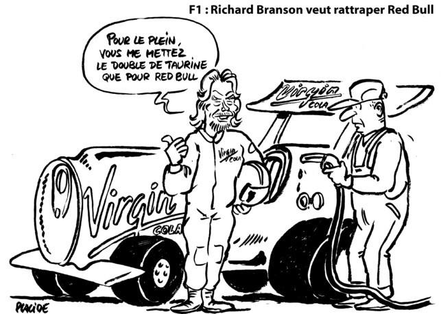 Le dessin du jour par placide - La formule chimique à sensation selon Branson