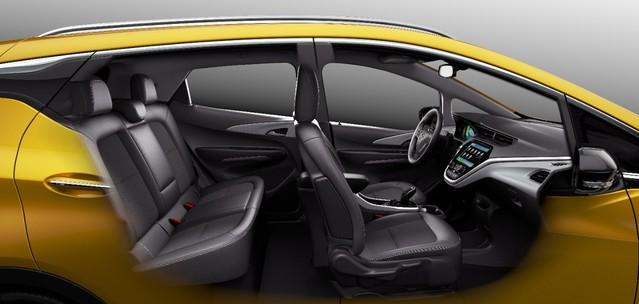 5 portes et 5 places: l'Ampera-e ne sera pas cantonnée au rôle de seconde voiture du ménage.