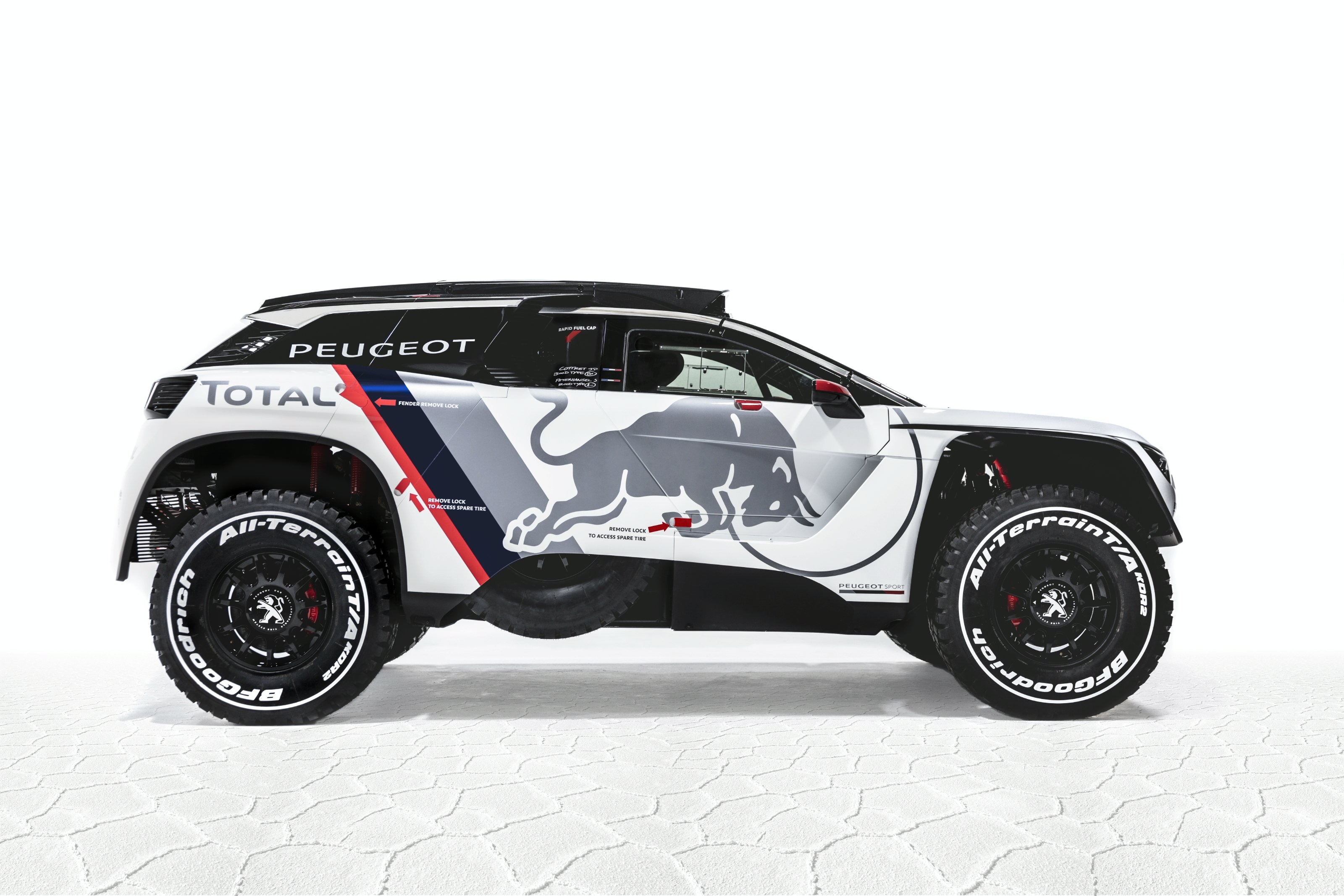 peugeot 3008 voici la version dkr pour le dakar 2017. Black Bedroom Furniture Sets. Home Design Ideas