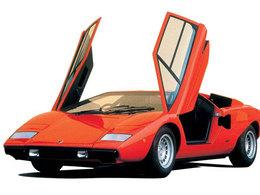 (Minuit chicanes) Une Lamborghini Countach au mur