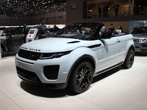 Land Rover Range Rover Evoque cabriolet : tête en l'air - Vidéo en direct du salon de Genève 2016