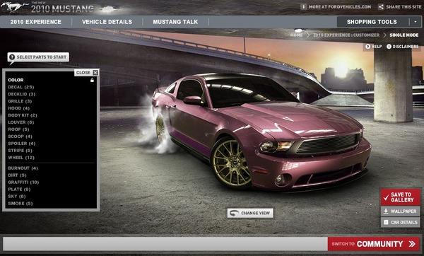 Customisez votre Mustang 2010 en ligne et montrez la nous ! [65 participations]