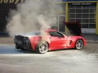 Corvette ZO6 : elle aussi brûle...