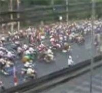 Vidéo moto : fluidité de circulation