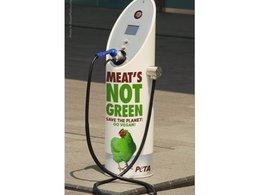 PETA souhaite faire la promotion d'un régime sans viande sur les bornes de chargement pour véhicules électriques