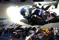 Chris Pfeiffer et les nouvelles Harley au salon 2011 de Lyon.