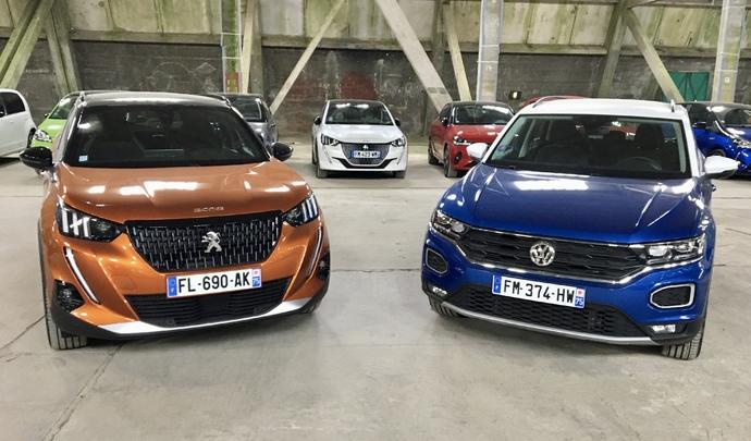 Peugeot 2008 VS Volkswagen T-Roc : choc de ténors – Salon de l'Auto Caradisiac 2020