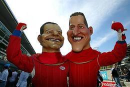 Michael Schumacher et Rubens Barrichello à nouveau ensemble ... dans l'espace !