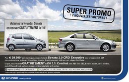 Pour l'achat d'une Sonata, Hyundai Belux vous offre une i10 en cadeau !