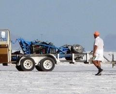 Un chasseur de records se tue à 320 km/h sur le lac salé de Bonneville