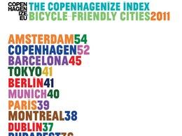 Copenhaguenize Index 2011 : quelles sont les villes où il fait bon pédaler ?