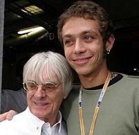 Moto GP: L'avis d'Ecclestone, la réponse de Rossi