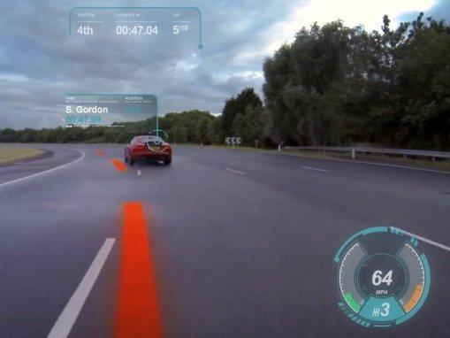 jaguar voiture intelligente et pare brise virtuel l 39 tude. Black Bedroom Furniture Sets. Home Design Ideas