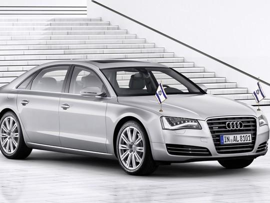 Une Audi A8 blindée à un million de dollars pour Israël