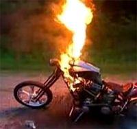Vidéo moto : Feu de joie